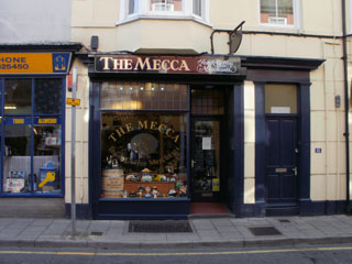 The tea and coffee purveyor The Mecca on Chalybeate Street, Aberystwyth
