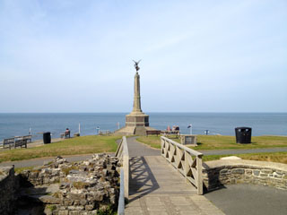 The Cenotaph viewed from Aberystwyth Castle